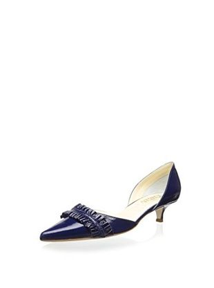 49% OFF Butter Women's Dive Ruffle D'Orsay Kitten Heel (Royal)