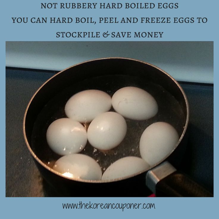 Freeze Hard-Boiled Eggs