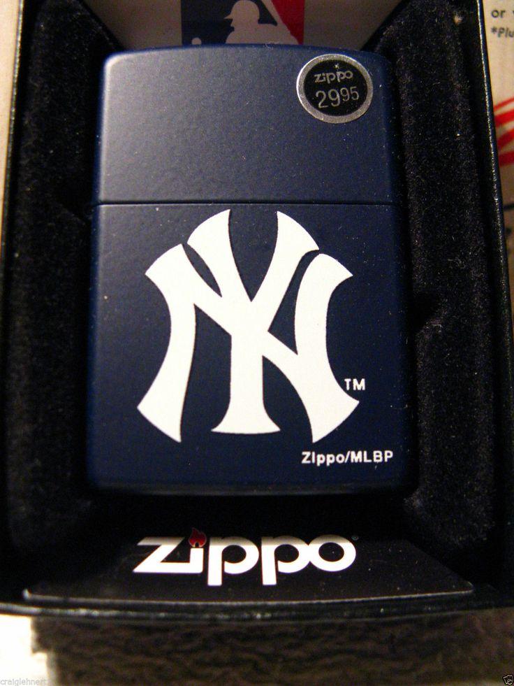 ZIPPO BLUE MATTE NEW YORK YANKEES LIGHTER NEW IN THE MLB