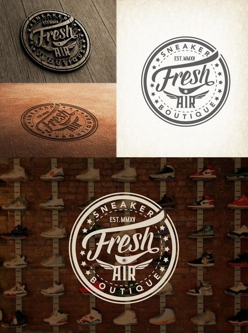 """Guaranteed Winner!!! Design the """"Fresh Air"""" Sneaker Boutique Logo, Opportunity for TONS of promotional future work. by mibg"""