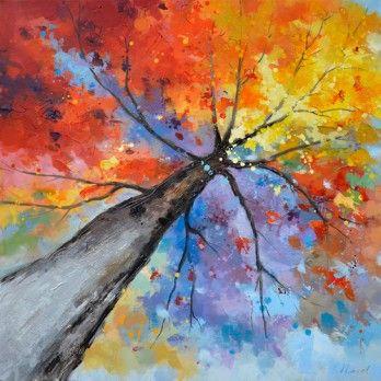 25 beste idee n over boom schilderijen op pinterest boom kunst doe het zelf boom schilderen - Schilderij ingang en gang ...