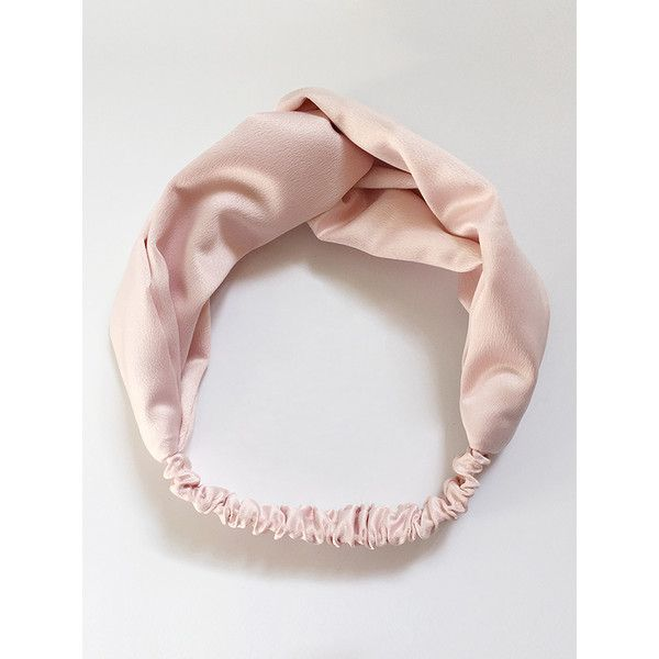 Pink Satin Look Twist Headband (19 AUD) ❤ liked on Polyvore featuring accessories, hair accessories, pink headbands, hair band accessories, head wrap headbands, twisted headwrap and twisted headband
