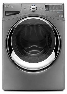 Whirlpool Duet 4.3 cu. ft. High-Efficiency Front Load Washer with Steam in Chrom - contemporary - cleaning supplies - Home Depot