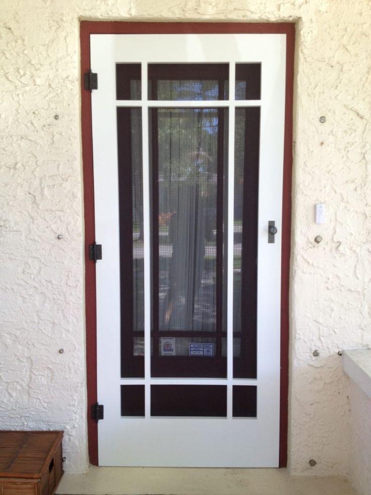 Wooden Storm Door With Screen And Glass