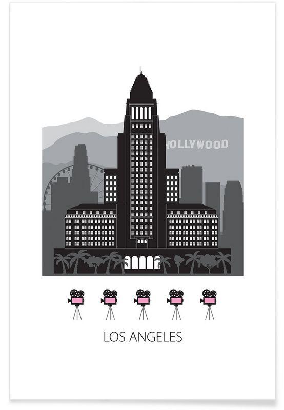 Los Angeles as Premium Poster by Forma Nova | JUNIQE