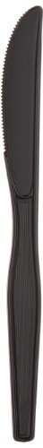 """Dixie KH517 Heavy Weight Polystyrene Knife, 7.5"""" Length, Black (Case of 1,000) by Georgia-Pacific. $28.80. Fullsize dinner length. Black color is perfect for conveying upscale image. Perfect for heavy, tough to cut food like steak and chicken. Saves time, labor and money. Dense Pack saves valuable storage space. Individually inspected. No short counts or broken pieces, guaranteed. Super Sanitary touch only the handles. Black color. Case of 1000 knives.. Save 63%!"""