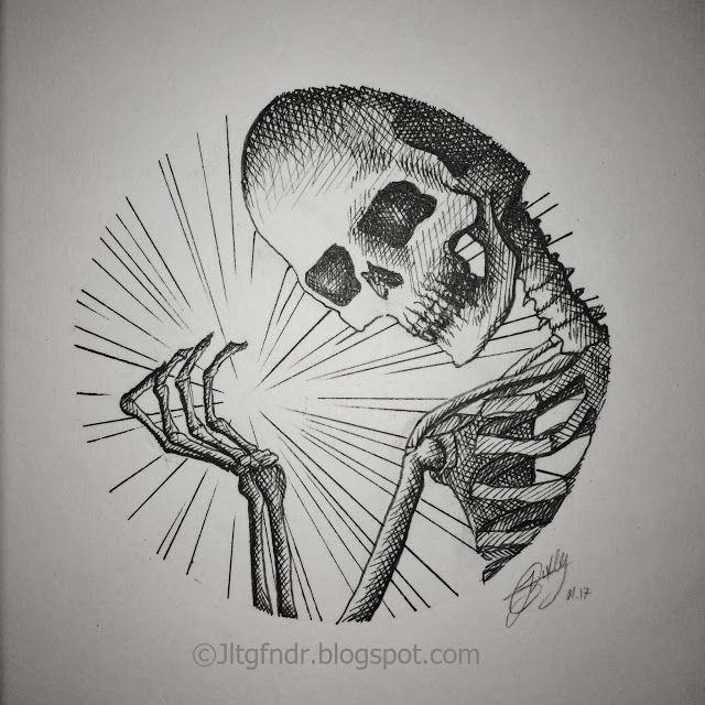 Illustration - Sparkle - 01.17 Illustration réaliste réalisée au stylo Rotring 0.05 à 0.5 Plus de détails et photos sur www.jltgfndr.blogspot.com  #Portrait #Squelette #Skeletton #Bones #Skull #Crâne #TêteDeMort #Etincelle #Lumière #Magic #Halloween #ClairObscur #Rotring #Surréaliste #Surrealist #CrossHatching #Cercle #Circle #Tattoo #Tatouage #Illustration #Géométrie #Geometric #Bust #Frame #NoirEtBlanc #BlackAndWhite #Jltgfndr