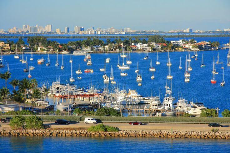 Atlas Okyanusu'nun kıyı kenti, Miami, Florida