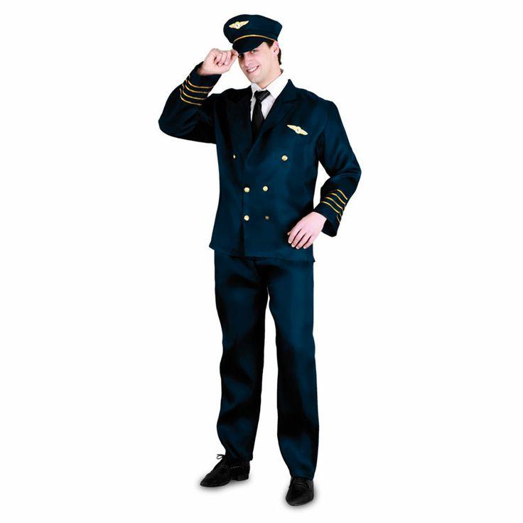 Si lo que quieres es causar sensación en tu próxima fiesta de disfraces este disfraz es la solución: El Comandante de la fiesta ha llegado chicas. Un modelo que imita el traje de un piloto de avión con en color azul marino y sus galones dorados.