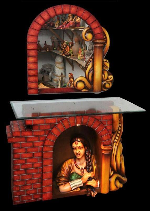 Corner Console 5.6 ft by 3 ft INR 23000