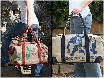 Under our own olive tree: Upcycled coffee bags – one of a kind
