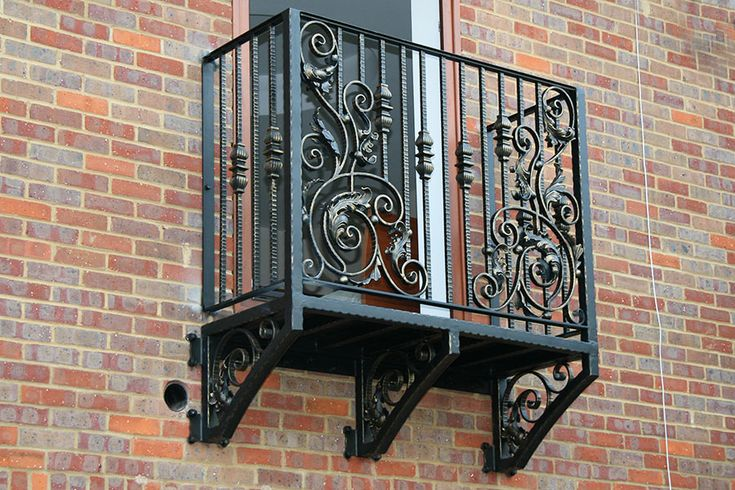 Beautiful wrought iron balconies in unique designs, true and faux balconies available. 0% finance, visit Europe's largest Wrought Iron balcony showroom.