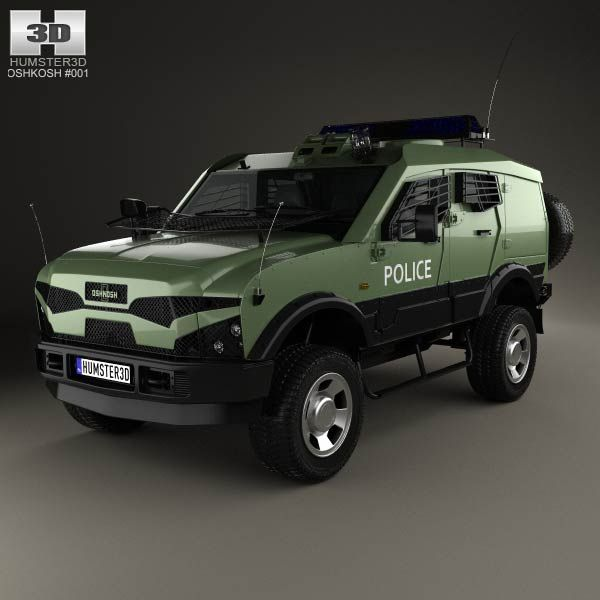 Oshkosh Sand Cat Transport 2012 3d model from humster3d.com. Price: $75