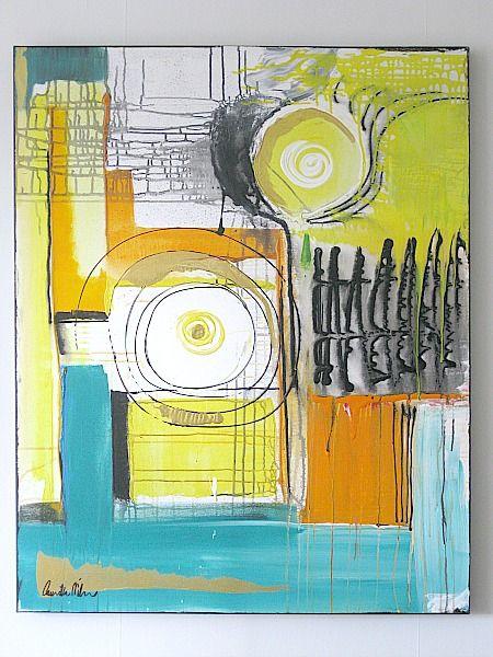 Art/Konst. Acrylic on canvas/Akryl på duk. 80 x 100 cm. By Camilla Nilsson, Camilla Nilsson Design.