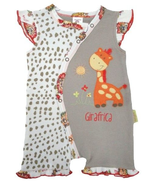Fair Trade Crawler with Appliqué. Available in sizes 3-6months, 6-12months, 12-18months and 18-24months.