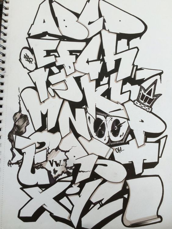 Graffiti Alphabet by ChrisFosterArt on DeviantArt: