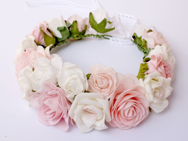 Haarbloemen - Flower head wreath / Floral crown / Headpiece - Een uniek product van LolaWhite op DaWanda