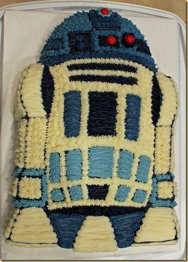 R2D2 cake-->Thanks Angela!!