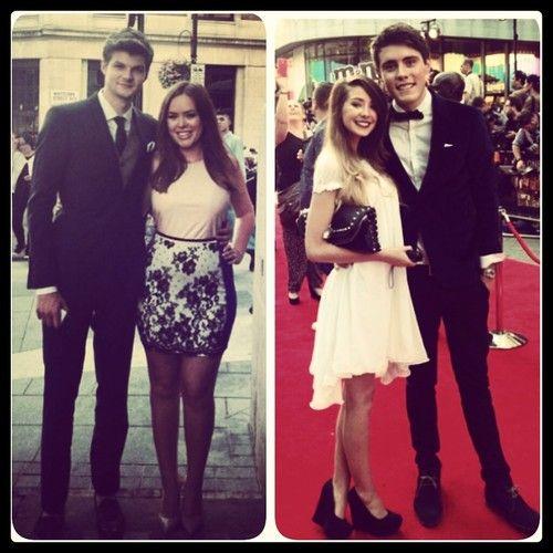 British YouTubers at 1D premiere | Jim & Tanya + Zoe & Alfie