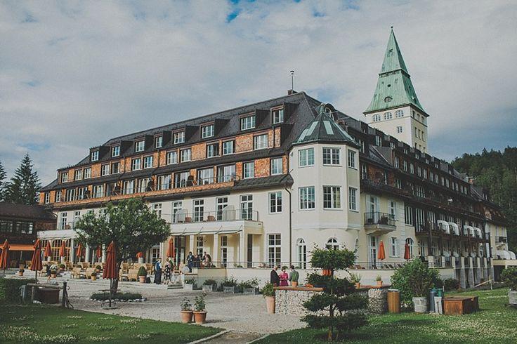 The hotel!! Photography: Gerry Sulp | Ceremony & Reception Venue: Schloss Elmau | #Venue #Destinationwedding #Weddingabroad #hotel #Germany #WeddingInGermany #Alps