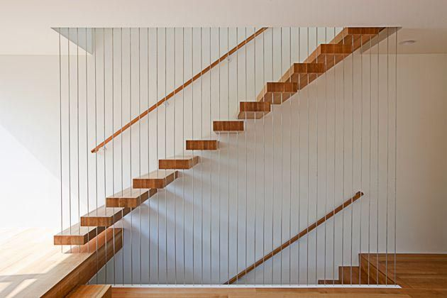 The Contemporary Box House Stairs Design by PATH Architecture in Portland Oregon