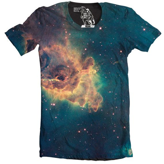 Jet in Carina Nebula Men's Tee Cool Outer Space by sharpshirter
