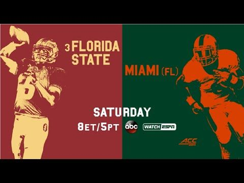 GAME 10: Florida State vs. Miami | Saturday, November 15, 2014 at 8:00pm [ET] on ABC | FSU-30 UM-26