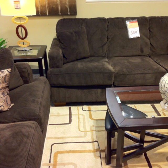 Dark Brown Corduroy Couch And Love Seat Homemakers 349 329