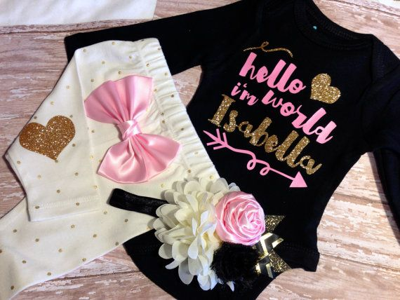 Baby Girl clothes coming home outfit take home by SweetnSparkly