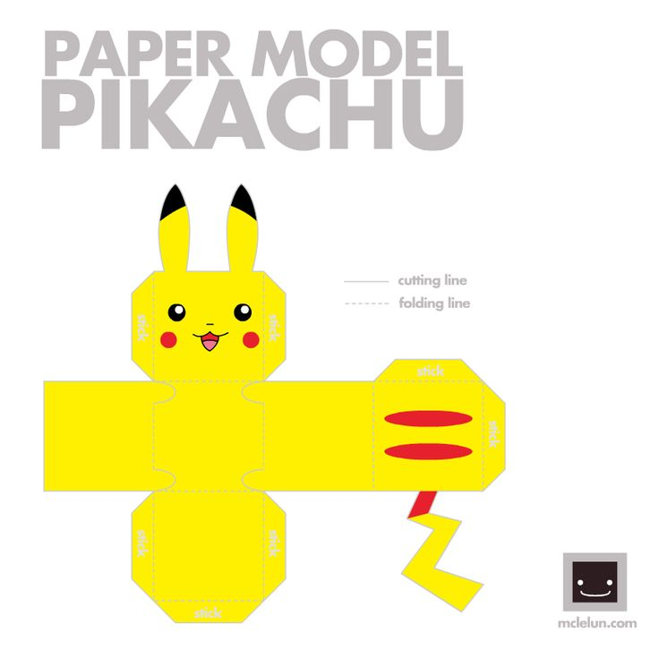 Image detail for -... , Paper Models and Paper Toys: Pokemon Papercraft: Boxy Pikachu