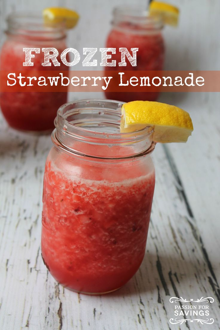 Frozen Strawberry Lemonade Recipe