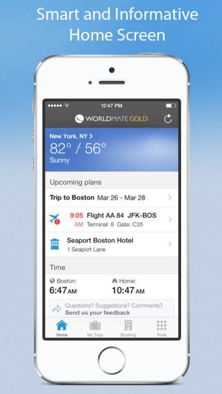 WorldMate Travel Plans & Flight Tracker worldMate, Inc. 제작 비행기 예약 여행 어플