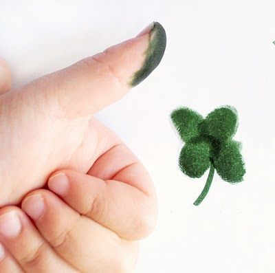 Thumb Print Clover. A variation of this could be a cool tattoo.