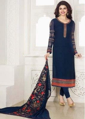 Festival Wear Blue Georgette Salwar Suit - Kashish4022