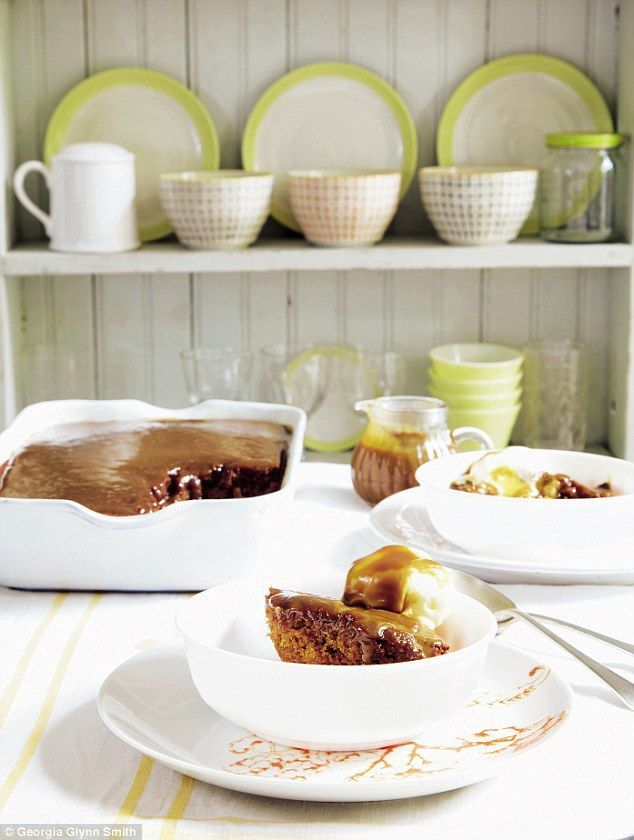 Mary Berry Everyday: Sticky Toffee Pudding- get recipe here: http://www.dailymail.co.uk/home/you/article-4133132/Mary-Berry-Everyday-Sticky-toffee-pudding.html