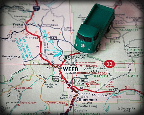 Perfect Art For All You California Weed Lovers Weed California Retro Map Art Print