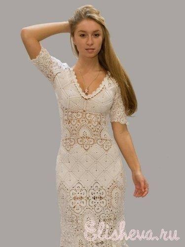 Вечернее платье вязанное