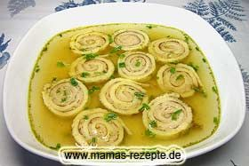 Schwäbische Brät - Flädlesuppe | Mamas Rezepte - mit Bild und Kalorienangaben