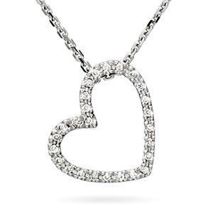 Diamond Heart Necklace Costco