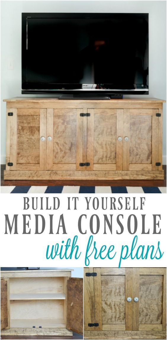 Build it yourself television console with free plans