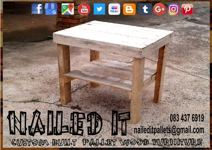 Pallet wood multi-purpose table. Raw wood finish. #palletfurniture #palletcoffeetable #pallettable #palletwoodcoffeetable #palletfurnituredurban #custompalletfurnituredurban #custompalletfurnituredurban