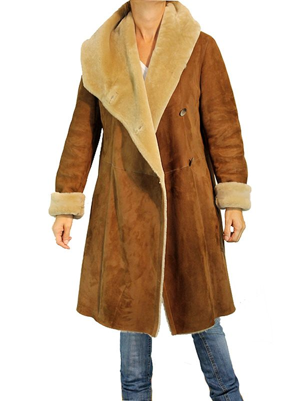 abrigos piel vuelta camel