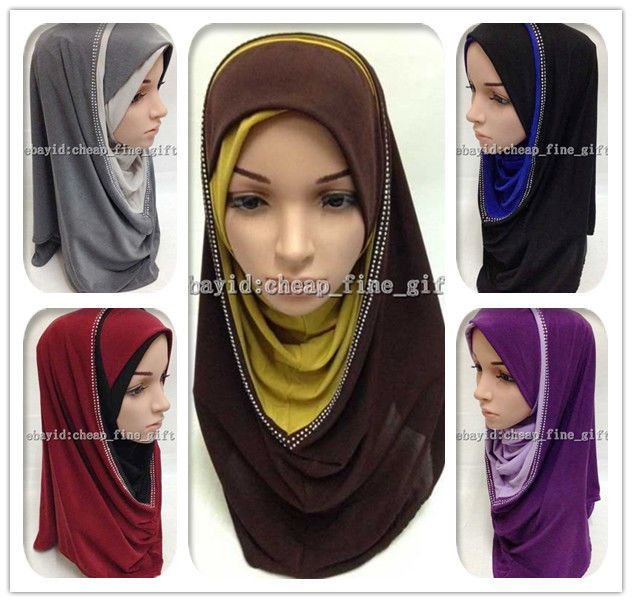 New Hot Muslim Hijab Islamic Scarf Arab Shawls Headwear Shayla #Unbranded #HijabsNiquabs