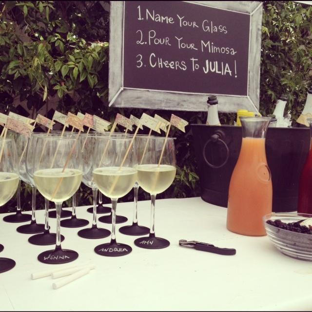 Julia's Bridal Shower Champagne Bar