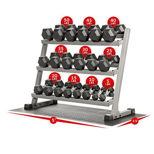 XMark Dumbbell Rack with 550 lb. Rubber Dumbbell Set and Mat XM-3107.1 http://adjustabledumbbell.info/product/xmark-dumbbell-rack-with-550-lb-rubber-dumbbell-set-and-mat-xm-3107-1/