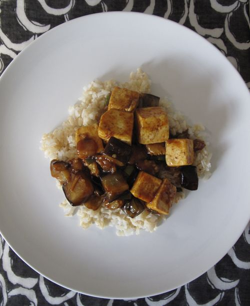 Eggplant and Tofu Stir-Fry from @lisa Choe Simple — As an eggplant