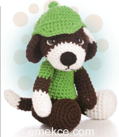 Amigurumi Şapkalı Köpek Yapılışı   Emekce.com