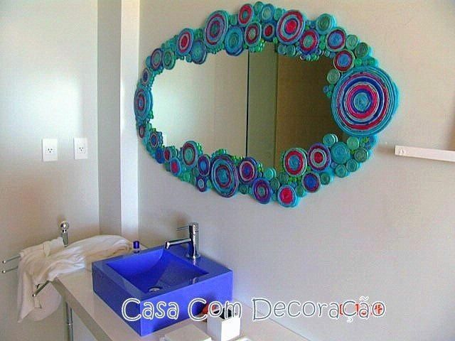 Set De Baño Reciclado:RECICLADO Marco de papel reciclado para este espejo