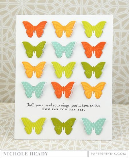 Fly Card by Nichole Heady for Papertrey Ink (January 2016)