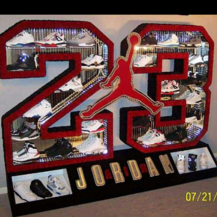 Jordan shoe display